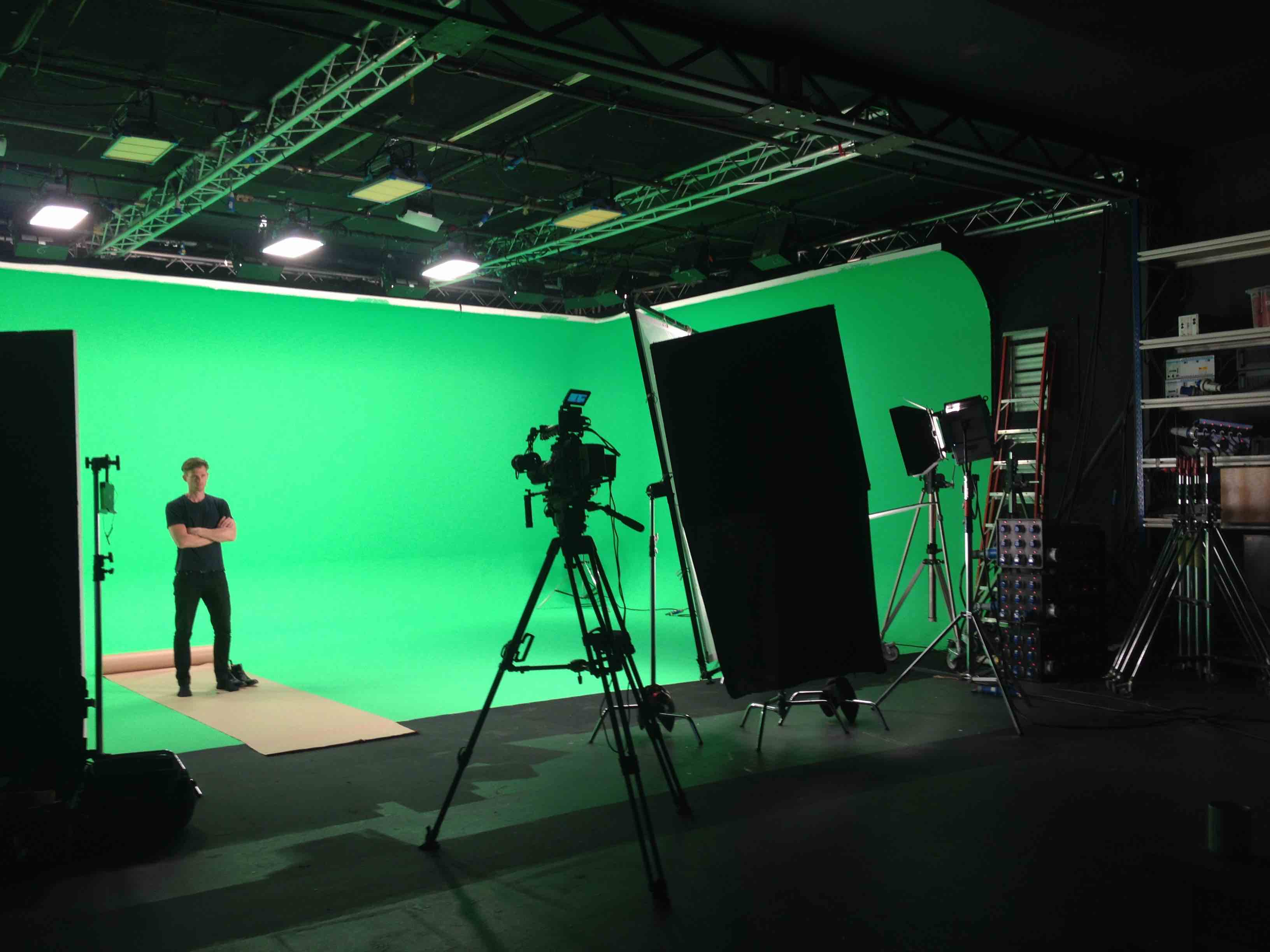 greenscreen lighting setup