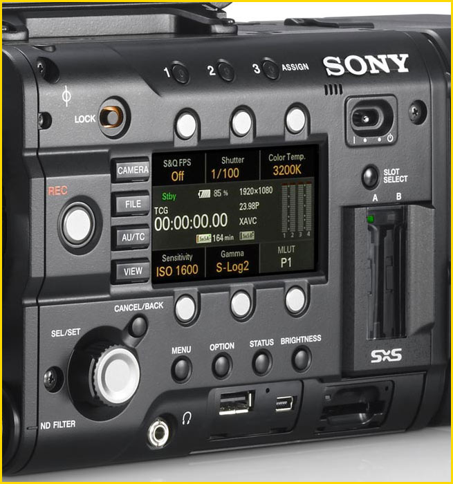 Sony PMW F5 side panel