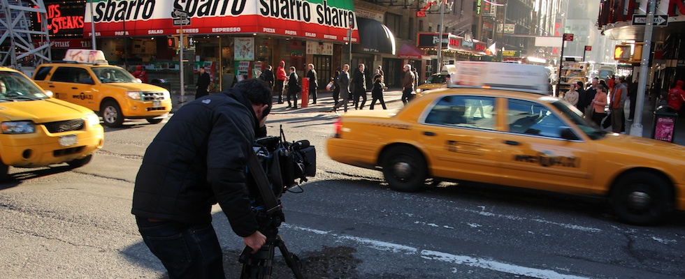 Cameraman in New York Times Square Daniel Haggett