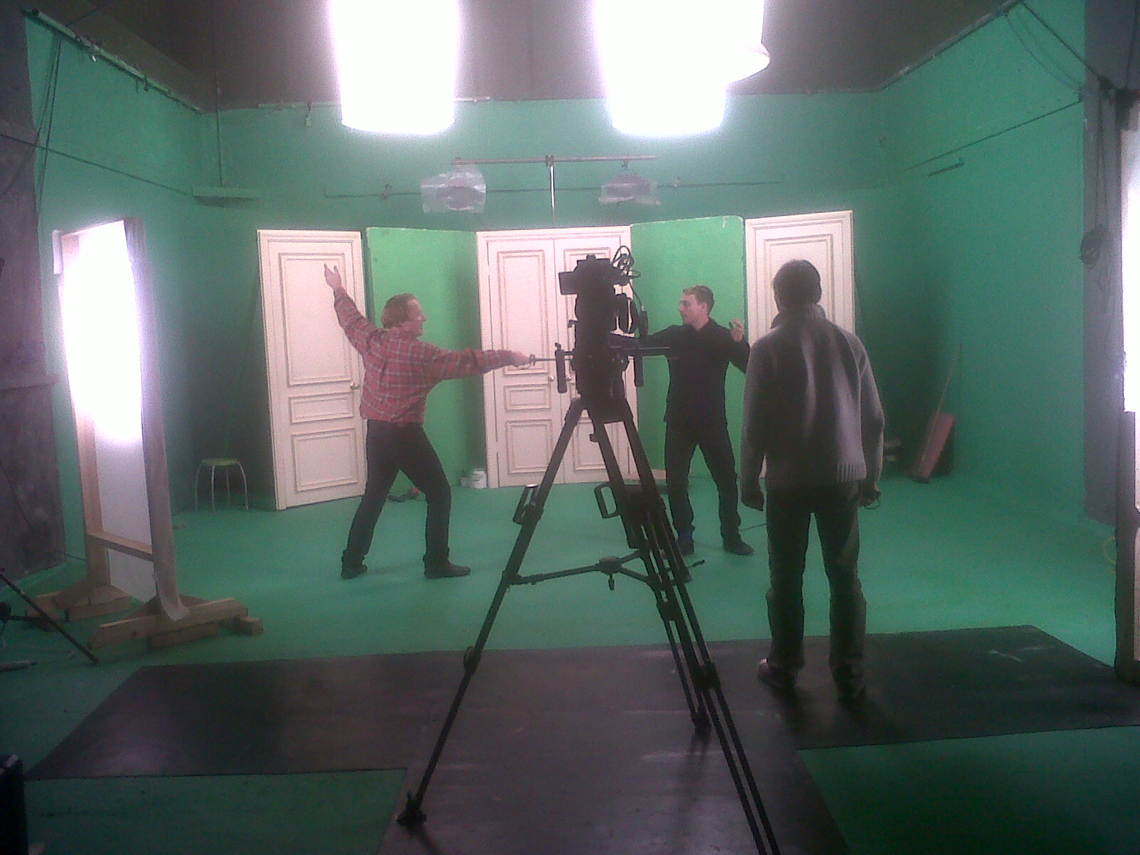 space lights for green screen studio
